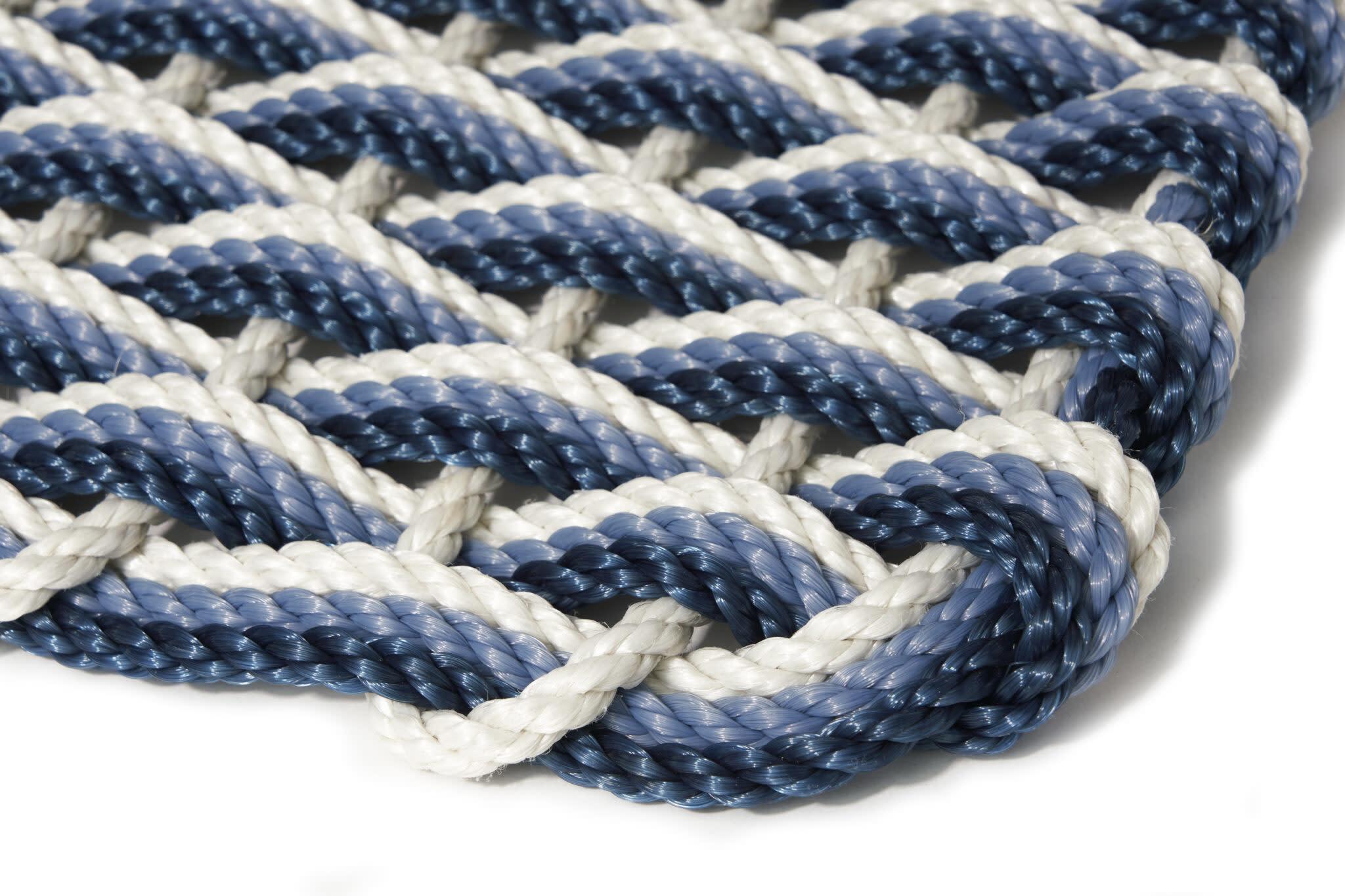 Oyster/Glacier Bay/Navy Triple Weave Doormat