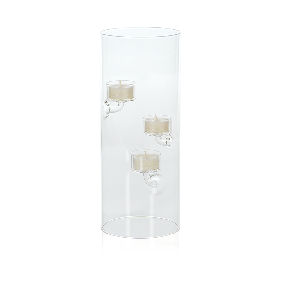 Suspended Glass Tealight Holder / Hurricane - Extra Large