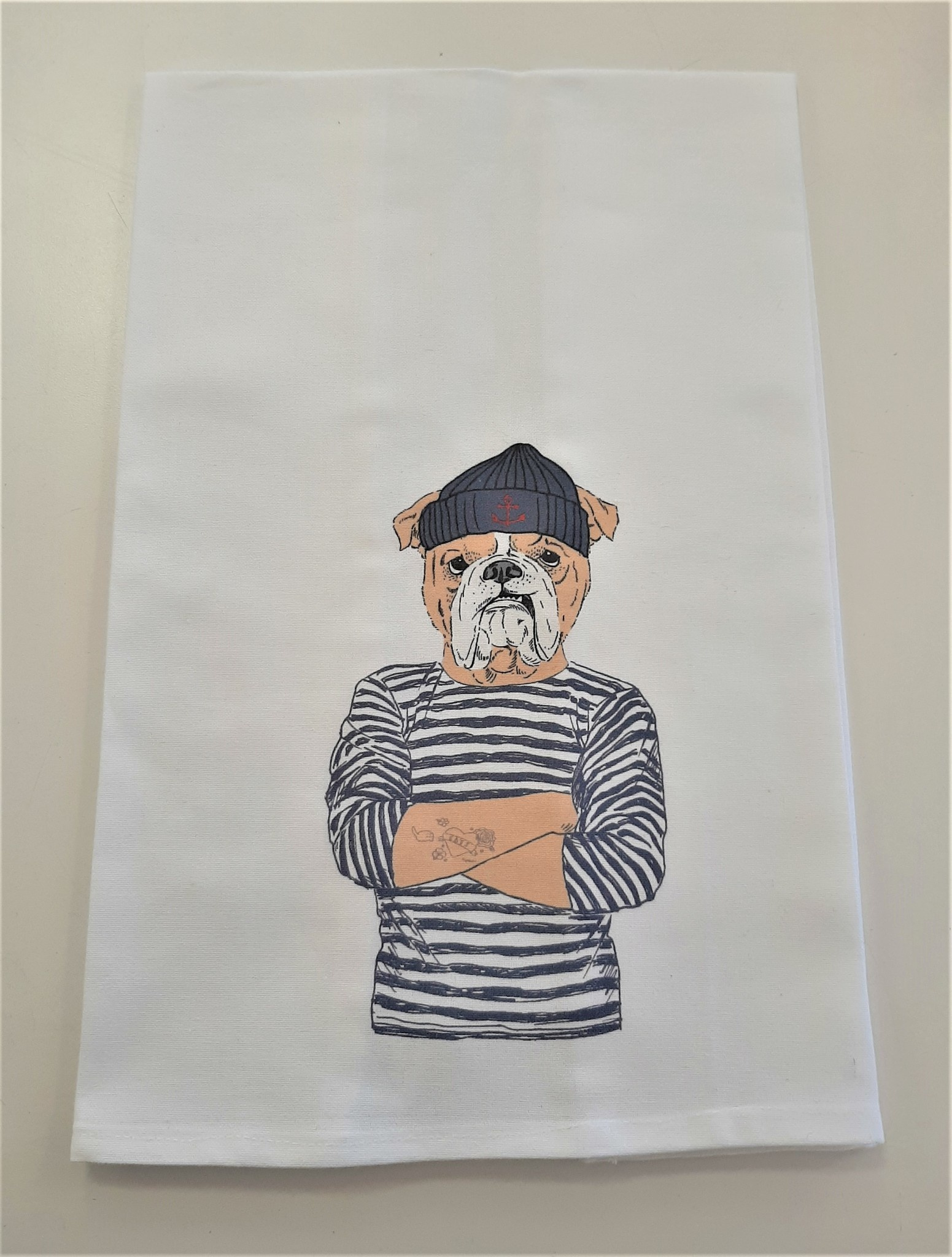 Boxer Sailor Hand Towel