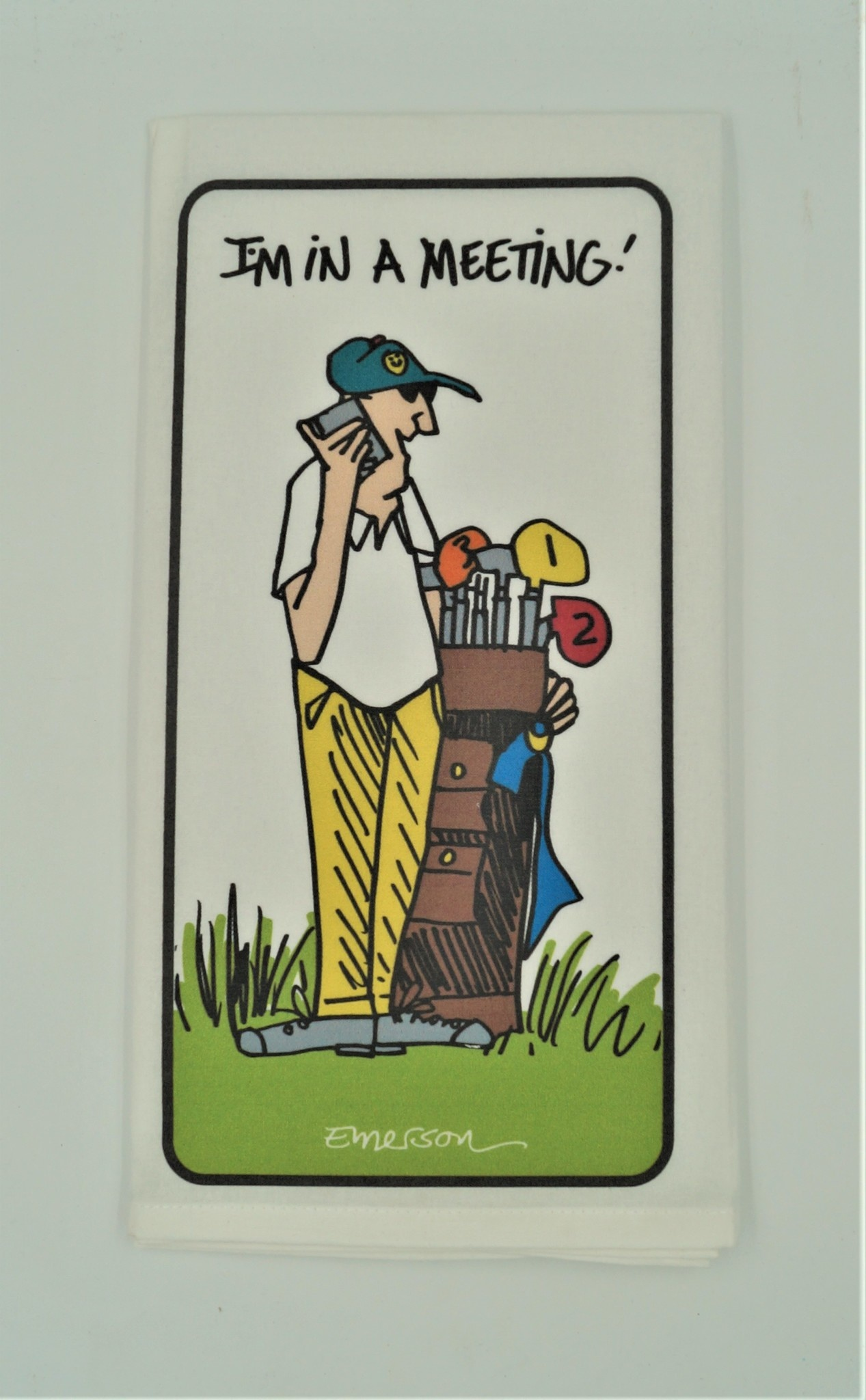 In a Meeting Golf Kitchen Towel