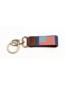American Flag on Navy Key Fob