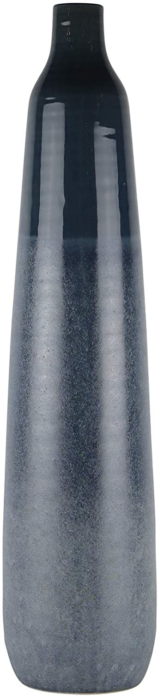 "Ceramic 28"" Bottle Vase, Blue Mix"