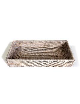 Guest Towel Bath Tray White Wash