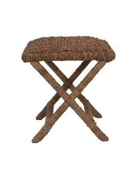 Hand-Woven Seagrass Stool, Natural