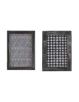 Bone & MDF Photo Frame Grey, 2 Styles