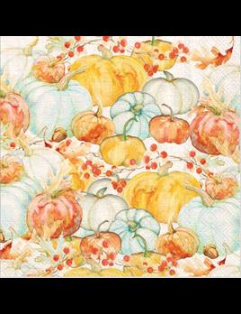 Watercolor Pumpkins Lunch Napkins