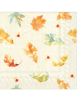 Watercolor Fall Leaves Lunch Napkins