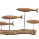 Hand-Carved Mango Wood Fish on Natural Tree Branch