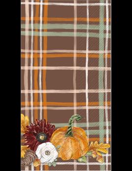 Fall Foliage Plaid Guest Towel