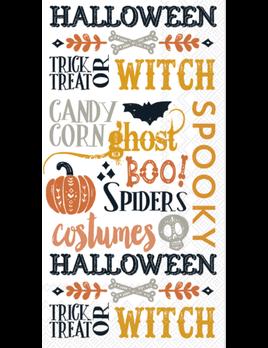 Halloween Words Guest Towel