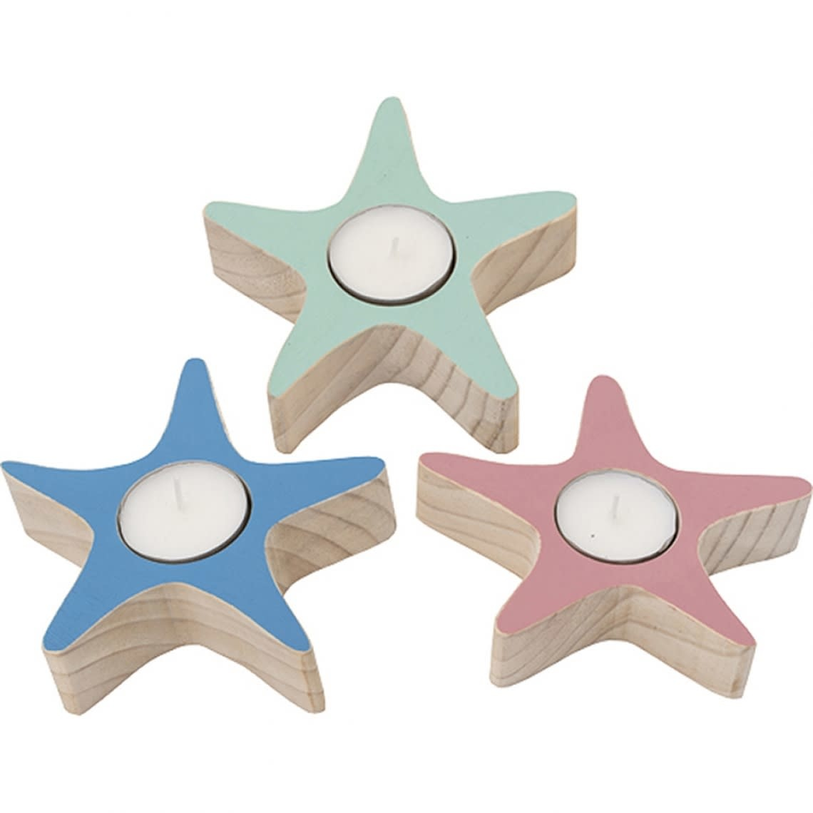 Starfish Candle Holder Pink