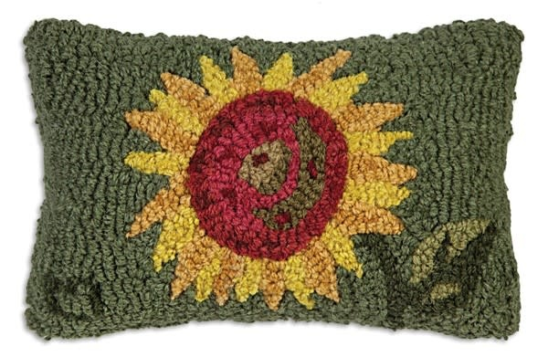 Sunflower  8x12 Hooked Pillow