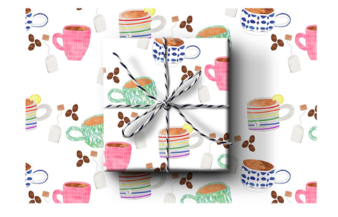 Mugs Wrapping Paper (Set A)