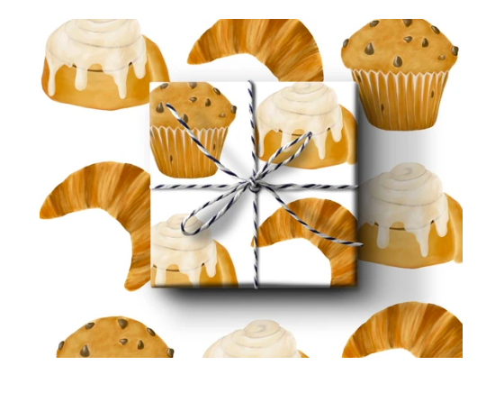 Pastries Wrapping Paper (Set A)