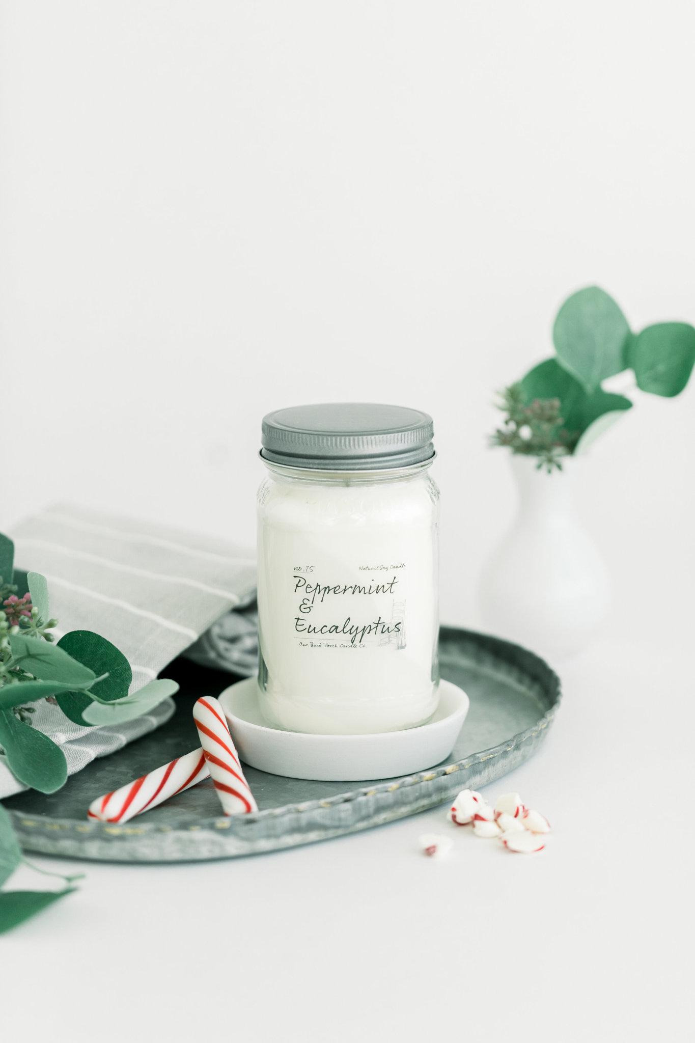 Peppermint & Eucalyptus 16oz Candle