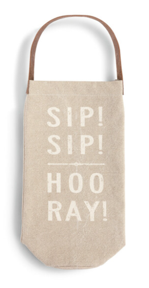 Sip, Sip Hooray Wine Bottle Bag