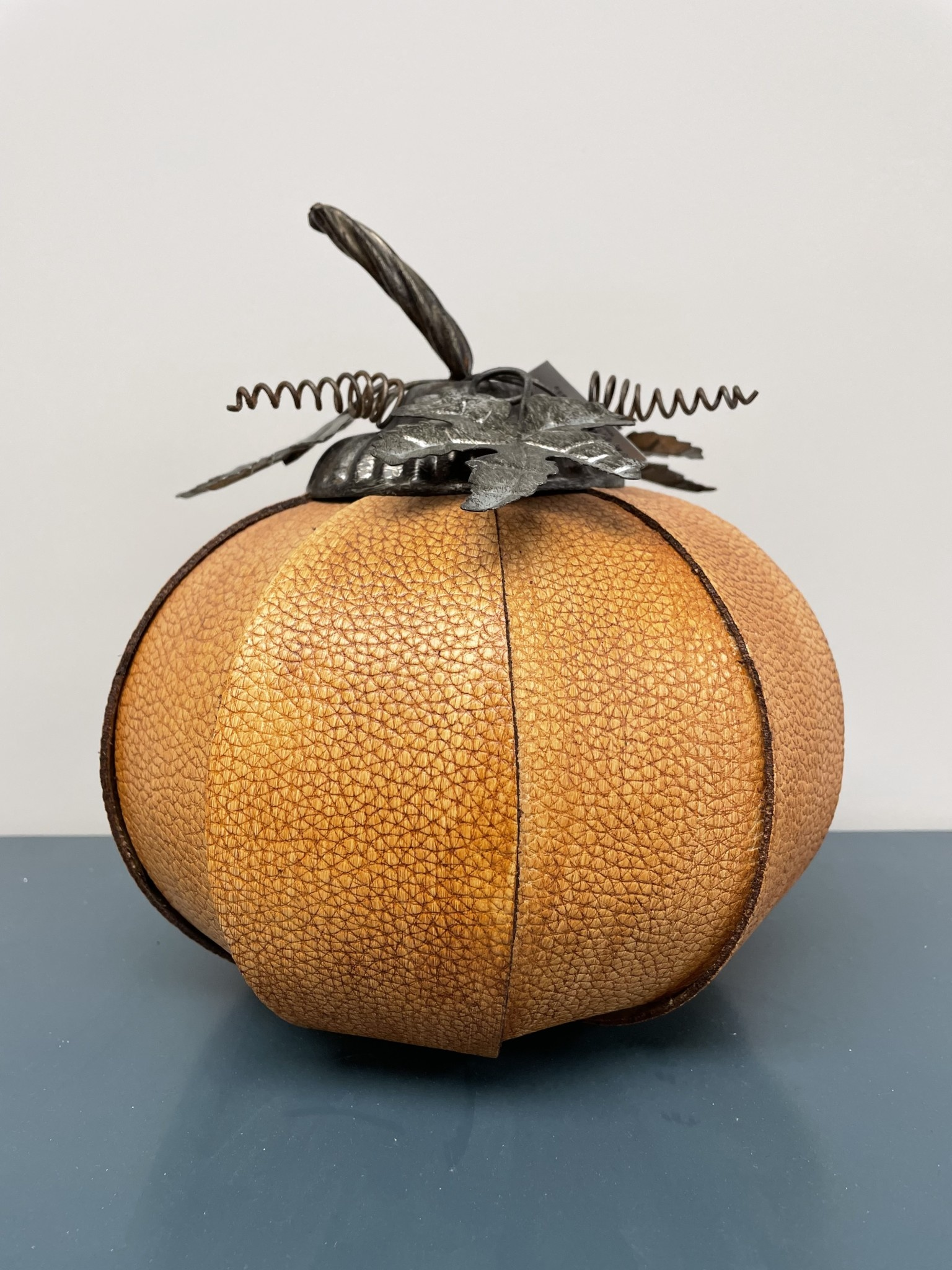 9.5 Inch Orange Split Leather Pumpkin