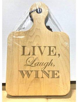 Live, Laugh, Wine 12x8 Maple Artisan Board