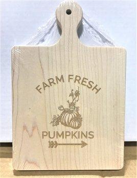 Farm Fresh Pumpkins 9x6 Maple Artisan Board