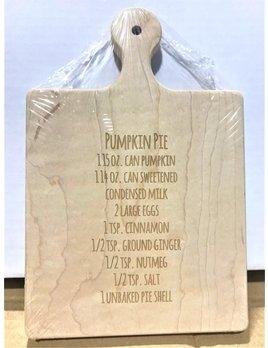 Pumpkin Pie Recipe 9x6 Maple Artisan Board