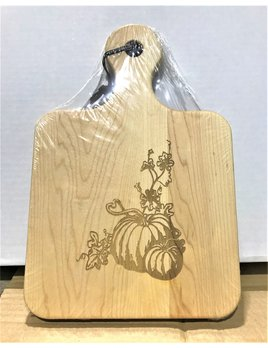 Pumpkins with Vines 12x8 Maple Artisan Board