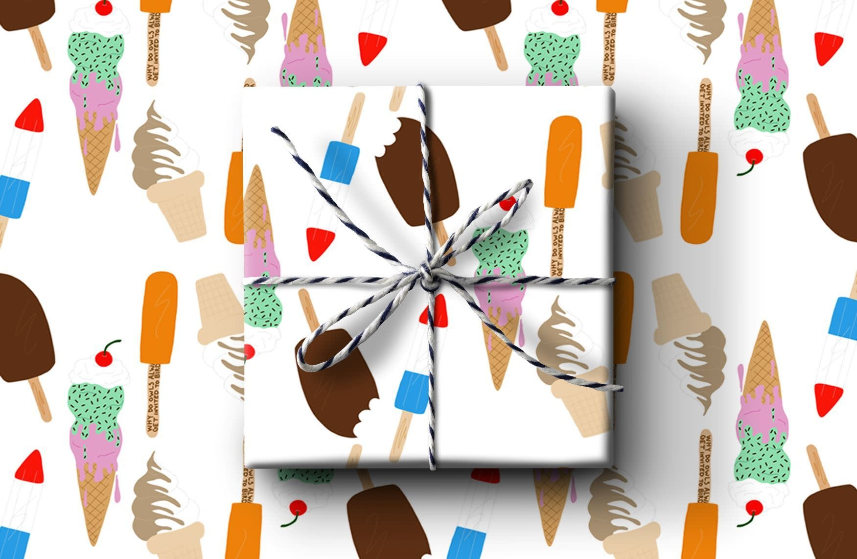 Ice Cream Wrapping Paper (Set A)