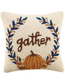 Gather Hooked Pillow 16x16