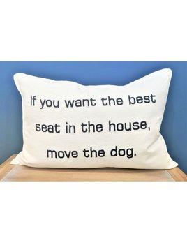 Move the Dog Lumbar Pillow 16x24