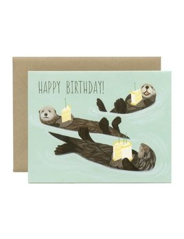 Otter Birthday Card and Envelope