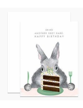 Another Grey Hare Card and Envelope