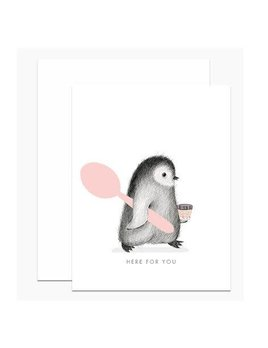 Here For You Penguin Card and Envelope