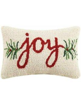 Joy Hooked Pillow 8x12