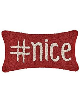 Hashtag Nice Hook Hooked Pillow 9x16