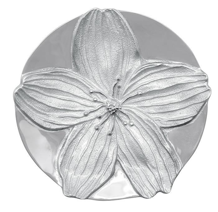Floral Trinket Dish White