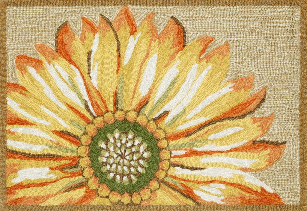 Yellow Sunflower Rug