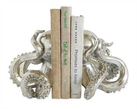 Resin Octopus Bookends