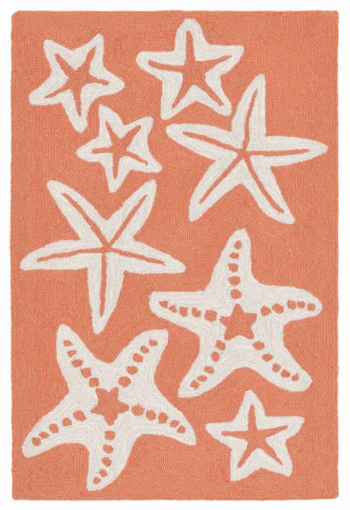 Coral Starfish Capri Rug