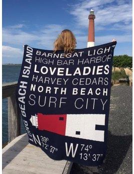 North LBI Custom Throw Blanket Blue