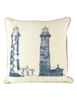 Pillow  Lighthouse on Light Blue