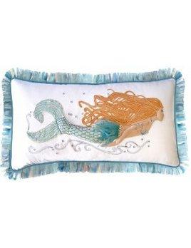 Pearl of the Sea Mermaid Pillow