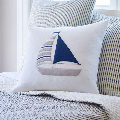 Sailboat Porch Pillow 21x21