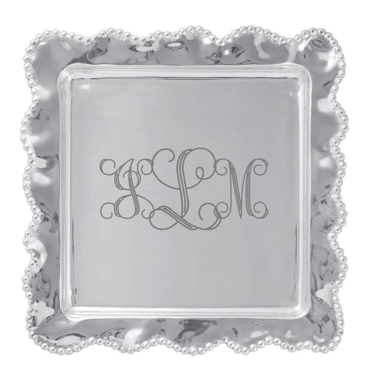 Personalize It Pearled Wavy Square Platter