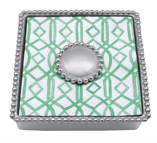 Beaded Napkin Box Personalize It