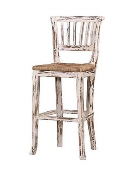 Aires Collection Manchester Barstool w/ Wooden Seat