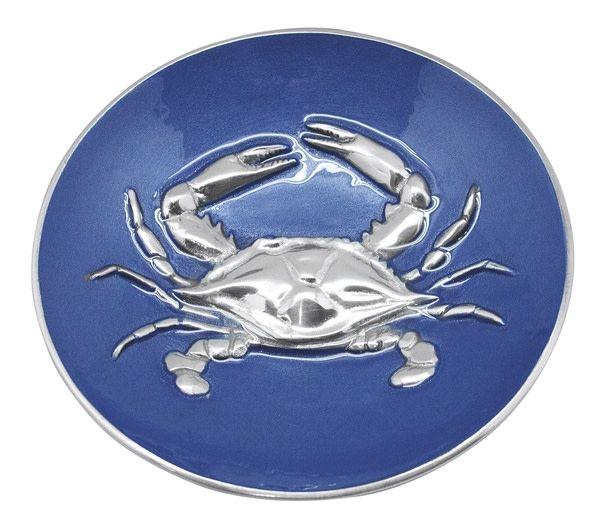 Cobalt Crab Relief Bowl