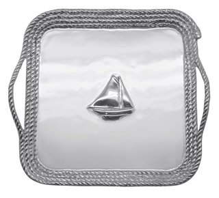 Large Sailboat Relief Rope Platter