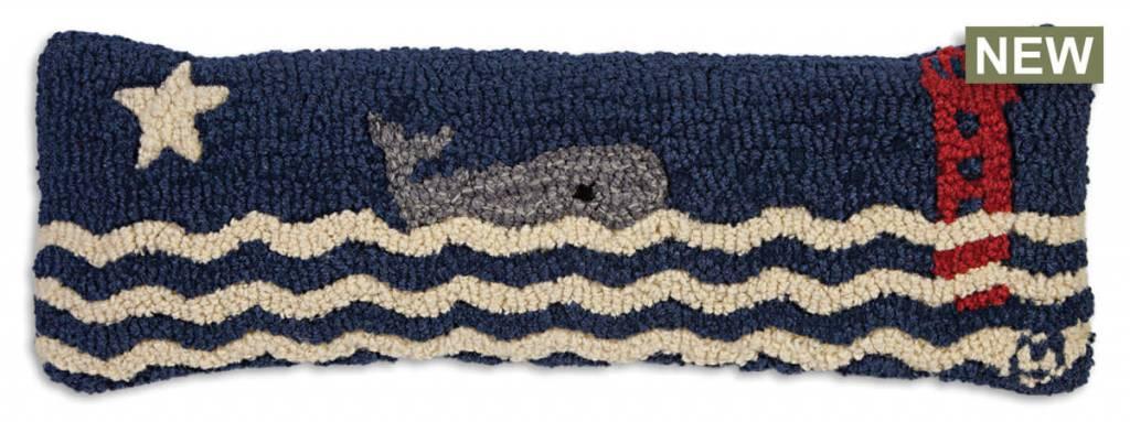 Wavy Whale 8x24 Pillow
