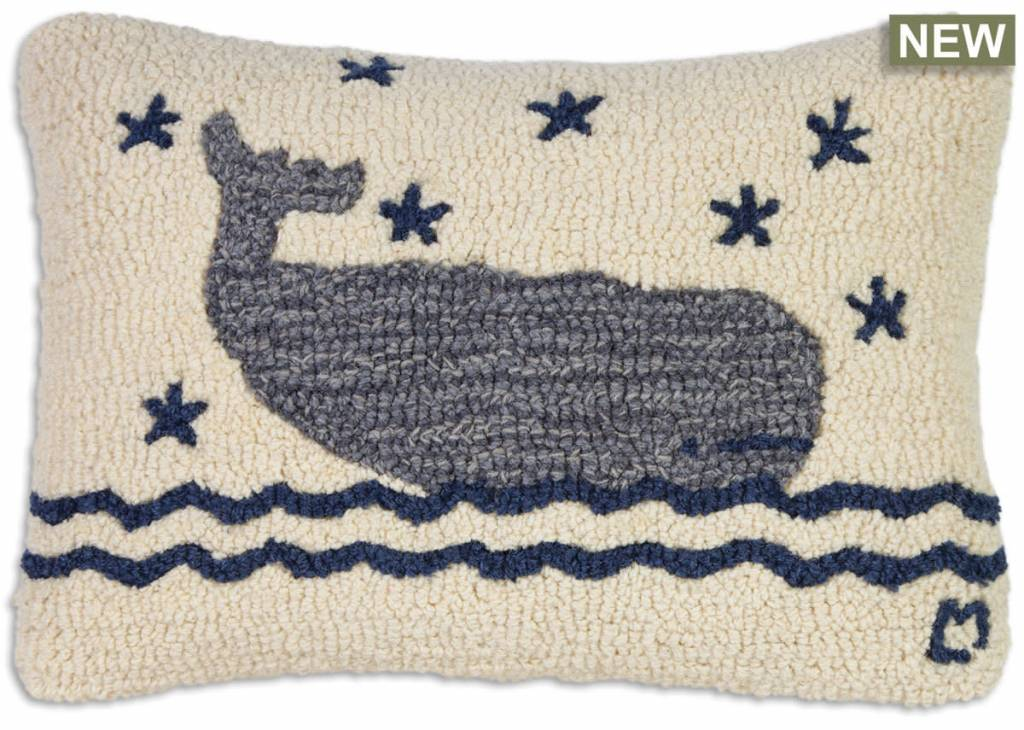 Whale In Water 14x20 Pillow