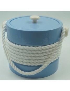 Baby Blue 3Qt White Rope Ice Bucket
