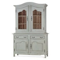 Provence Baroque Armoire w 2 Glass Doors